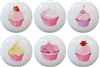 Cupcake Knobs - Set of 6