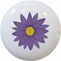 Purple Flower Knob