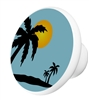 Blue Summer Beach Knob