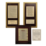 Framed Geneva Bible and 1611 King James Pages