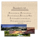 Three Bookmarks with Framable Isaiah 41:10 Print Offer