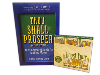 "Thou Shall Prosper - Rabbi Daniel Lapin (Hardcover) with BONUS ""Boost Your Income"" DVD!"