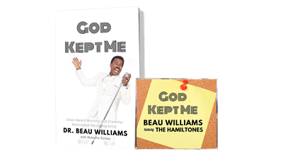 """God kept me"" Devotional and "" God kept me"" CD single."