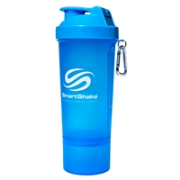 Smart Shake Slim Shaker Cups 17 Oz Neon Blue