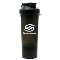 Smart Shaker Slim Shaker Cup 17 Oz Gun Smoke