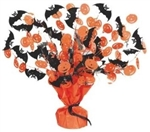 15 inch Halloween Bat and Pumpkin Gleam n Burst Centerpiece, Price Per EACH