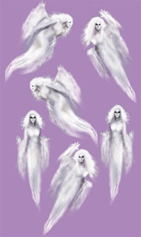 35in to 37in Insta-Theme Halloween Ethereal Ghost Props, Price Per EACH