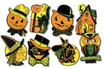 9 1/2 inch Retro Art Halloween Cutouts