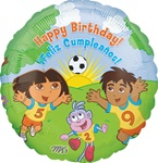 18 inch Dora & Diego Happy Birthday
