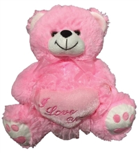 10in Pink I Love You Bear