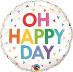 Happy Day Confetti Balloon