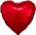 18 inch METALLIC RED Heart Shape