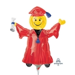 14 inch RED Smiley Grad Mini Shape