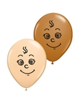 5 inch Qualatex Baby Face Assortment Latex Balloons