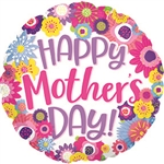 Happy Mother's Day Flowers Balloon