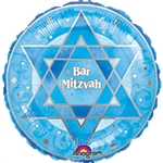 18 inch Shimmering Star BAR MITZVAH, Price Per EACH, Minimum Order 10