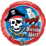 18 inch Happy Birthday Mate Pirate Ship