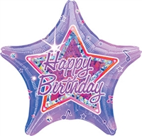 18 inch Happy Birthday Celebration Star foil balloon