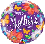 18 inch Happy Mother's Day Botanical Foil Balloon