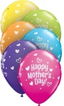 11 inch Qualatex Mother's Day Hearts & Dots