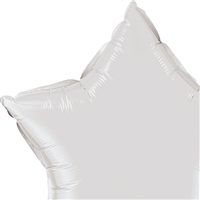 36 inch Star Qualatex Foil WHITE, Price Per Package of 5