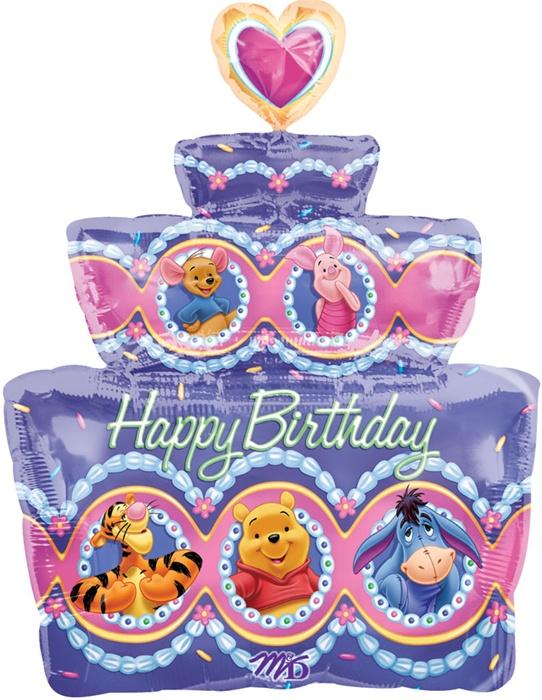 Tremendous 28 Inch Disney Winnie The Pooh Party Happy Birthday Cake Funny Birthday Cards Online Elaedamsfinfo