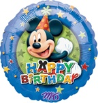 18 inch Mickey Birthday Stars Balloon