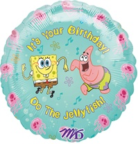 18 inch Sponge Bob It's Your Birthday Balloon
