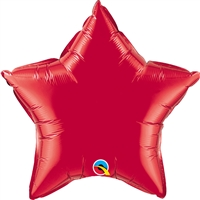 Qualatex 20 inch Star shaped foil balloon Ruby Red