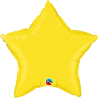Qualatex 20 inch Star shaped foil balloon yellow
