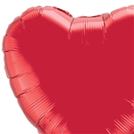 Qualatex 36 inch Ruby red Heart shaped foil balloon