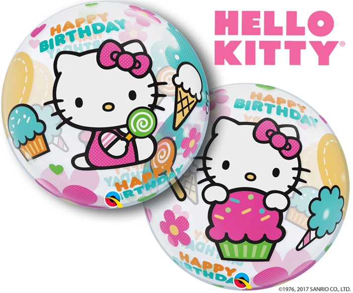 22 Inch Hello Kitty Happy Birthday Bubble
