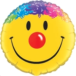 18 inch Smile Face with Hair foil balloon