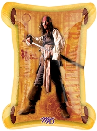 34 inch Disney Pirates II Captain Jack Sparrow