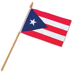 12 x 18 inch PUERTO RICO Cloth Flag w/stick