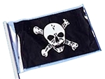 12in x 18in Pirate Flag with Skull and Cross Bones