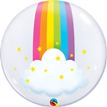 BUBBLE Rainbow Clouds Balloon