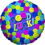 Good Luck Smileys - Foil Balloon