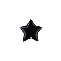 4 inch BLACK Star Qualatex Foil balloon