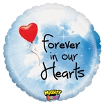 21 inch Forever In Our Hearts Foil Balloon