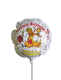 4 inch Garfield Happy Birthday