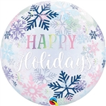 Happy Holidays Snowflakes Balloon