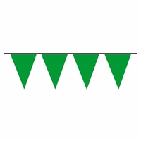 100ft Pennant Flags GREEN, Price Per EACH