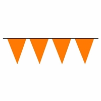 100ft Pennant Flags ORANGE, Price Per EACH