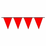 100ft string of RED Pennant Flags