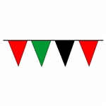RED GREEN and BLACK Pennant Flags