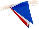 RED WHITE and BLUE Pennant Flags
