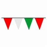 100ft Pennant Flags RED, WHITE, and GREEN