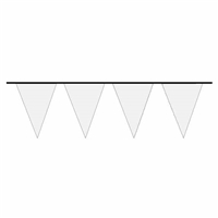 Poly WHITE Pennant Flags