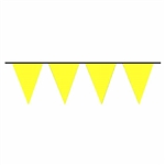 100ft Pennant Flags YELLOW, Price Per EACH